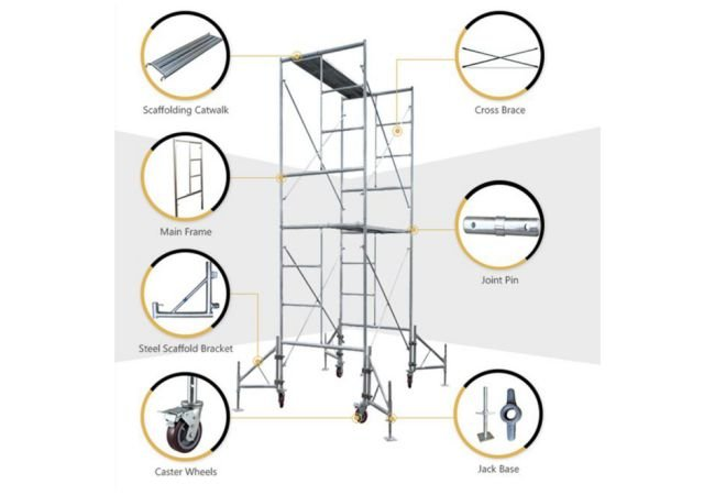Scaffold Frame With Accessories