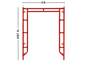 A Frame Scaffolding-door type with C-lock