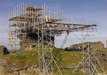 Shoring and Scaffolding are used for the maintenance of ancient buildings